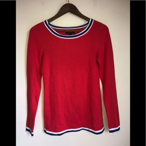 Tommy Hilfiger Red Scoop Neck Sweater